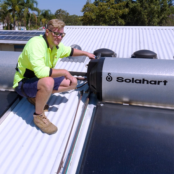 Thermosiphon Roof Mounted Solar Hot Water